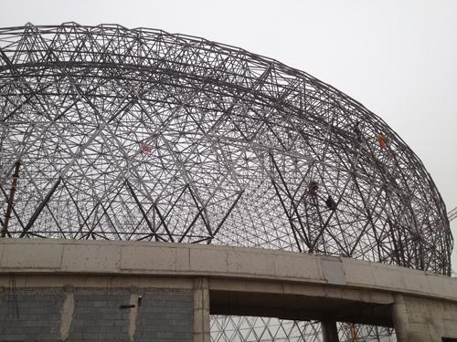 河南濮阳大剧院施工现场 - 徐州鼎恒钢结构有限公司